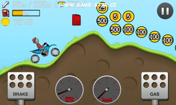 Hill Climb Racing hra na android