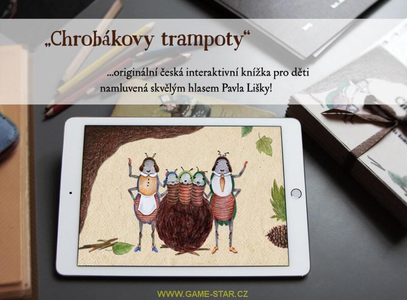 chrobákovy trampoty česká interaktivní knížka