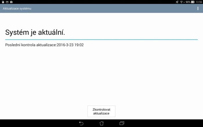 aktualizace systému tablet asus 2
