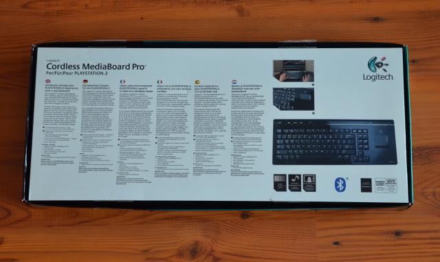 logitech cordless mediaboard pro ps3 4