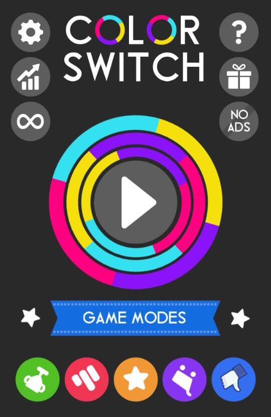 color switch hlavní panel