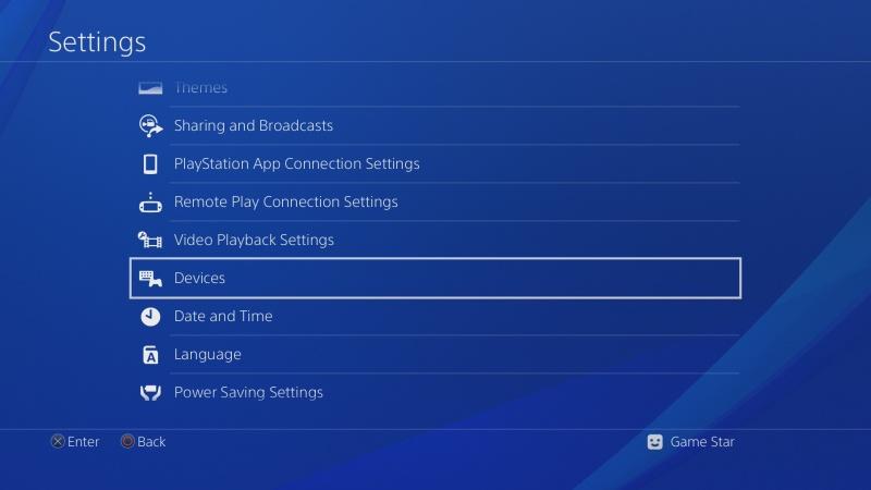 PS4 ovladač nastavení 1
