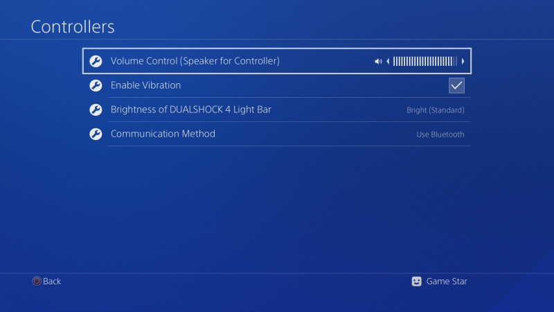 PS4 ovladač nastavení 3