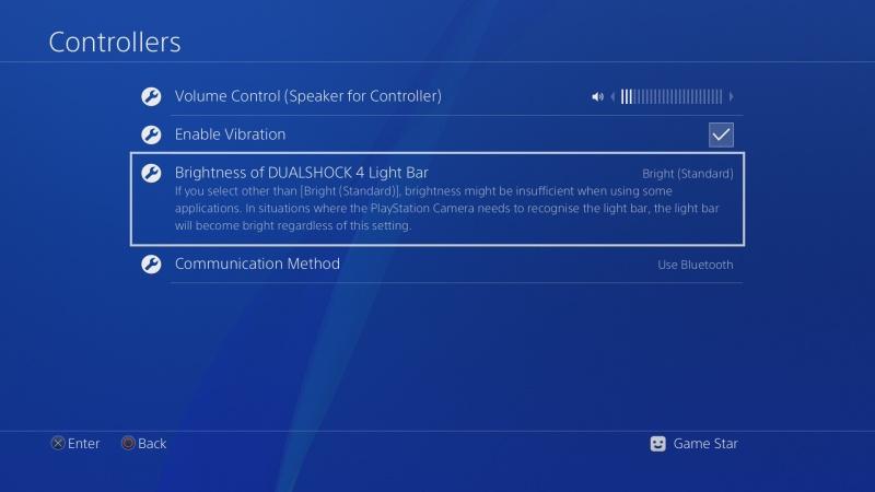 PS4 ovladač nastavení 4