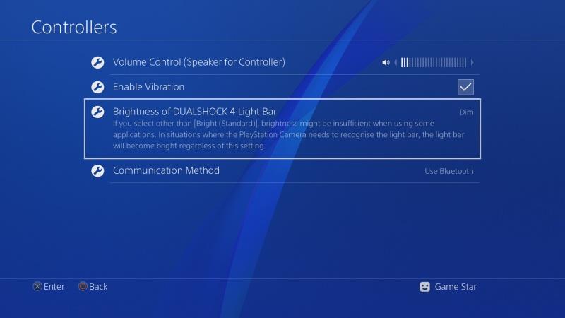 PS4 ovladač nastavení 5