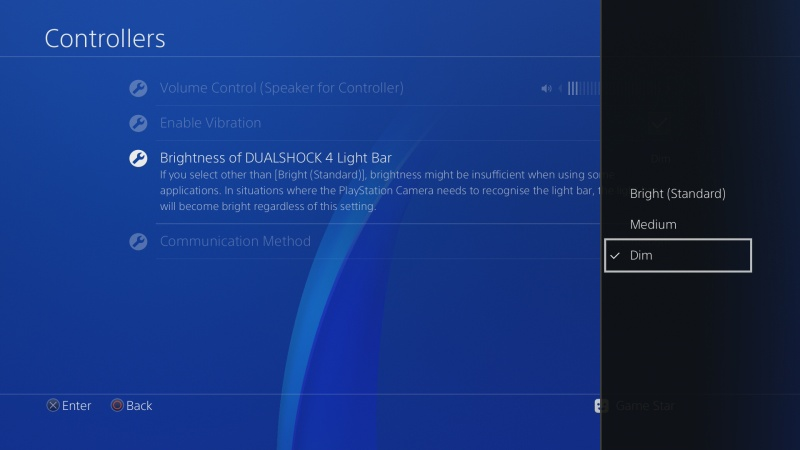 PS4 ovladač nastavení 6