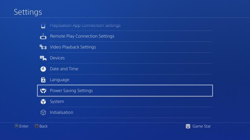 Automatické vypínání PS4 2