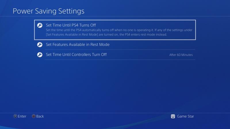 Automatické vypínání PS4 3