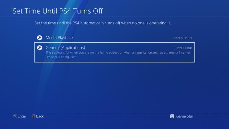 Automatické vypínání PS4 4