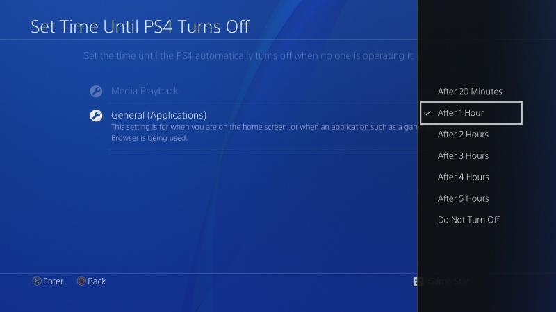 Automatické vypínání PS4 5