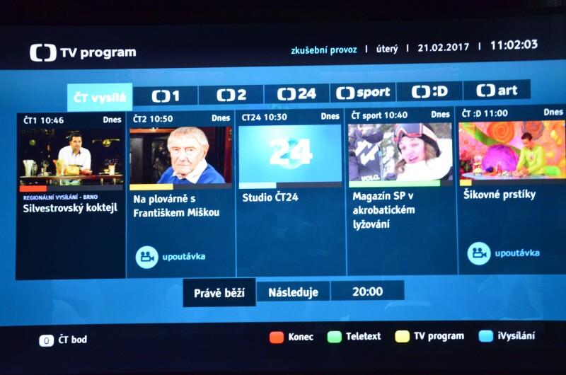 HbbTv Česká televize 5