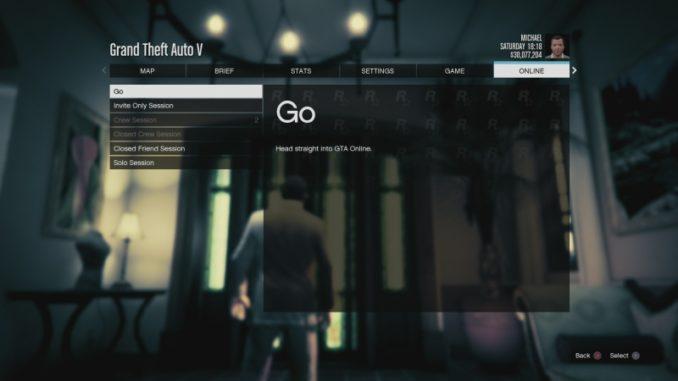 Jak hrát GTA 5 online na PS4 5