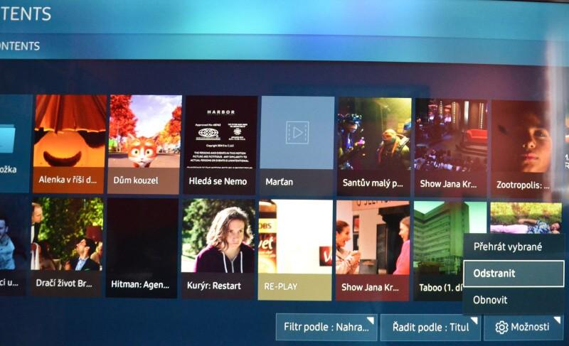 Jak smazat nahrané pořady v televizi Samsung 5