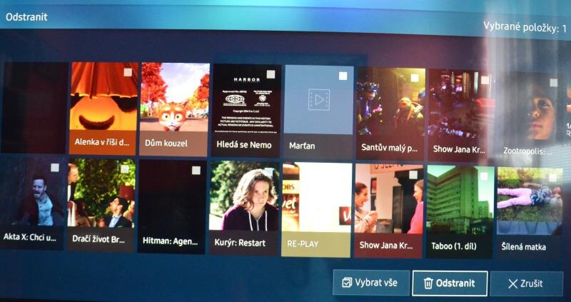 Jak smazat nahrané pořady v televizi Samsung 6