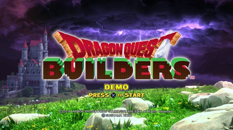 dragon quest builders ps4 demo