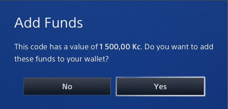 playstation peněženka dobití kreditu 2