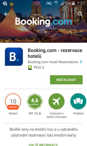 booking aplikace rezervace ubytování 01