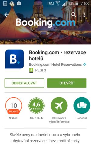 booking aplikace rezervace ubytování 03