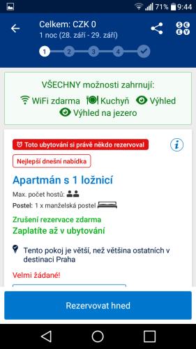 booking aplikace rezervace ubytování 18