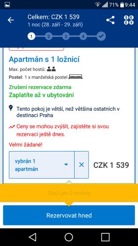 booking aplikace rezervace ubytování 19