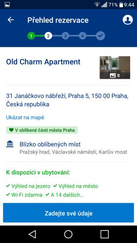 booking aplikace rezervace ubytování 20