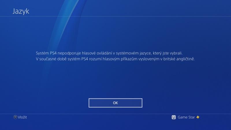 čeština do ps4 nastavení Playstation 4 česky 04