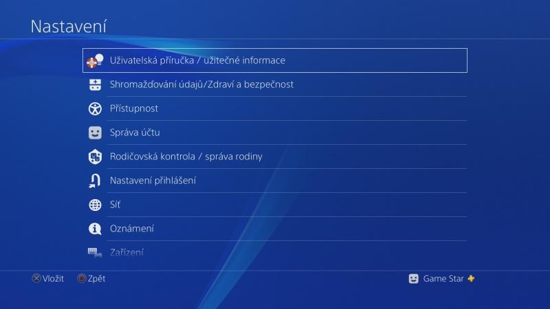 čeština do ps4 nastavení Playstation 4 česky 08