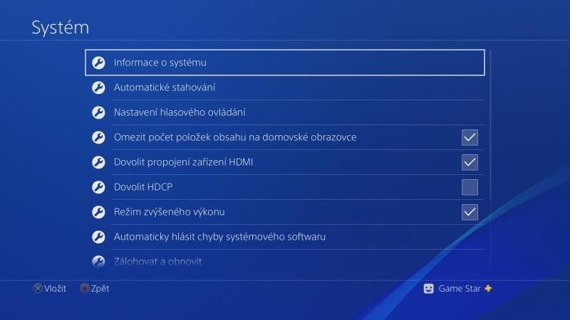 čeština do ps4 nastavení Playstation 4 česky 09
