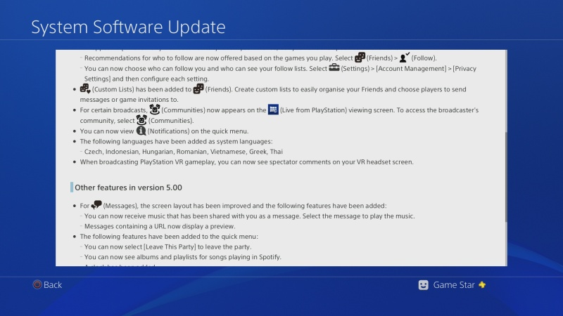 ps4 system software update 5.0 04