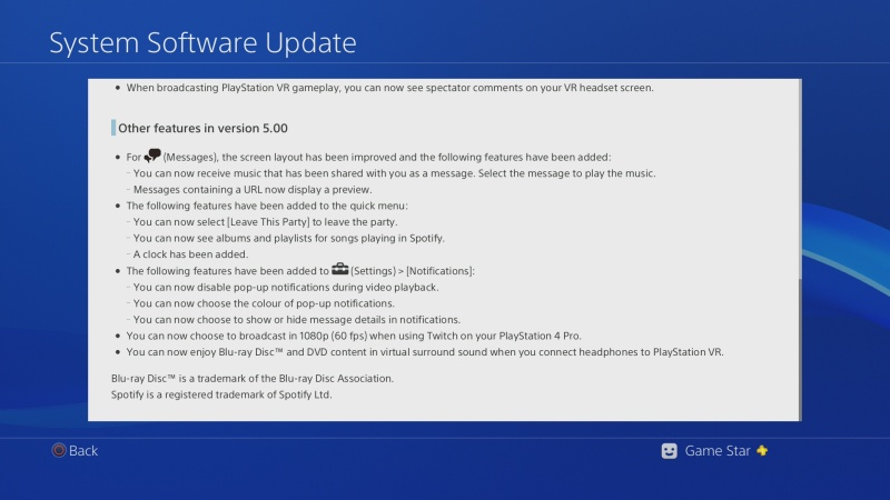 ps4 system software update 5.0 05