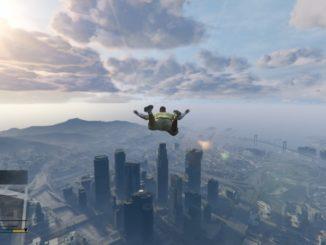 GTA 5 PS4 cheat Let volným pádem - Skyfall