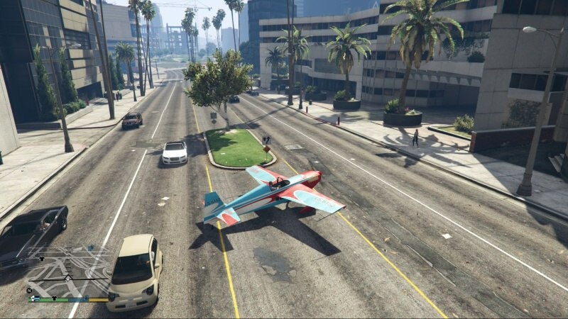 GTA 5 cheat PS4 Letadlo (Spawn Stunt Plane)