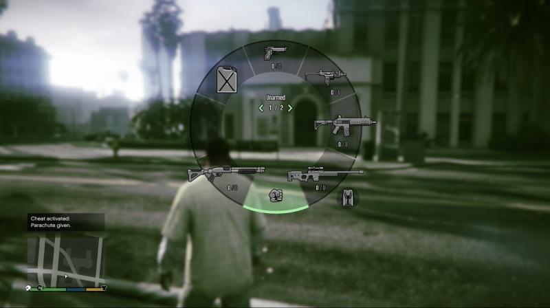 GTA 5 PS4 cheat Padák – Give parachute