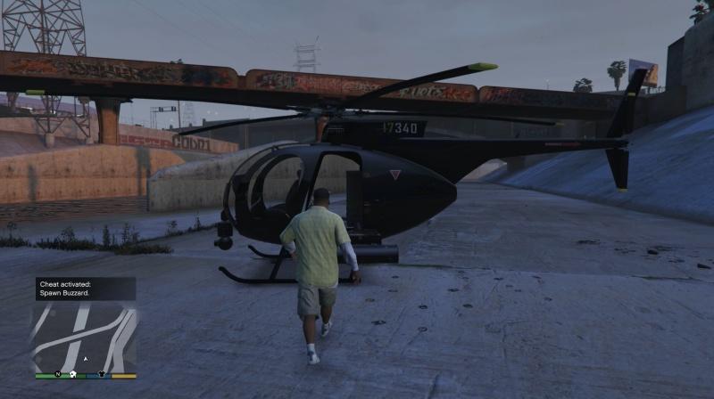 gta v ps4 cheat vrtulník buzzard