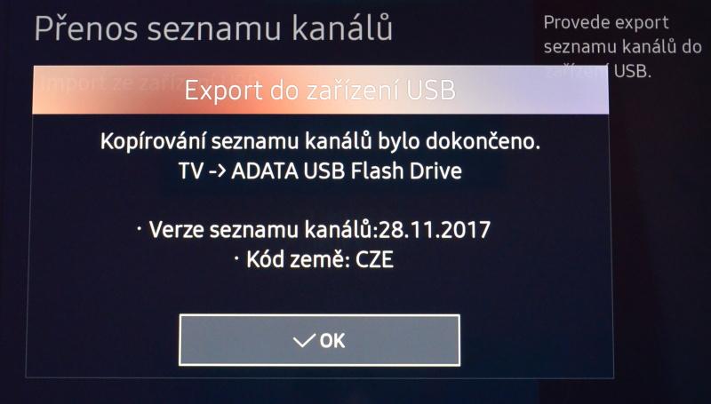 Jak seřadit programy na televizi Samsung 07