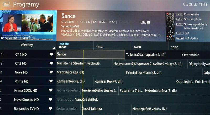 Jak seřadit programy na televizi Samsung 09
