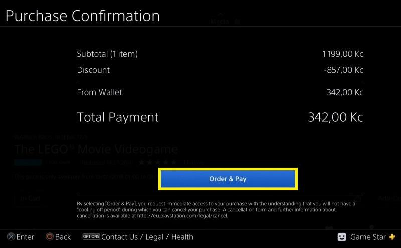 Jak koupit hru v PS Store 5