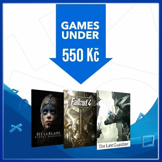 Levné hry na PS4 – deals under 550 kč