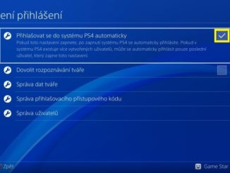 PS4 automatické přihlášení 3