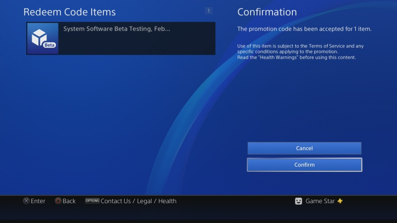 PS4 system software update 5.50 beta 01