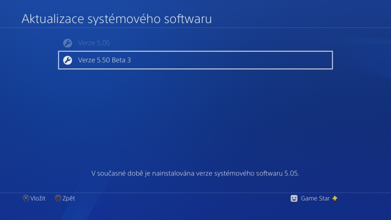 PS4 system software update 5.50 beta 05