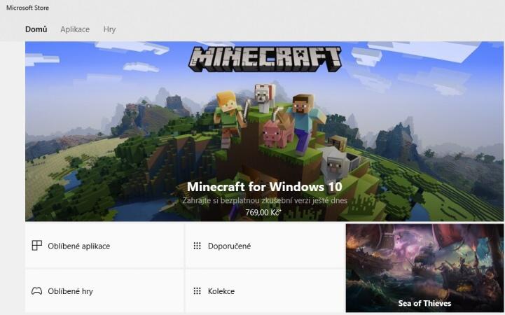 Minecraft hra zdarma ke stažení pro Windows 10