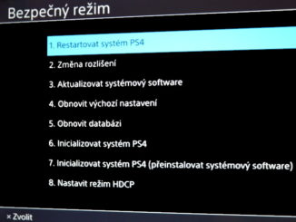 Bezpečný režim Playstation 4. PS4 safe mode 2