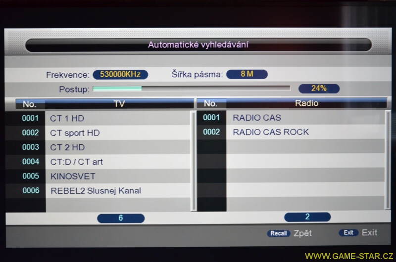 Synaps T-65 DVB-T2 HD set top box – recenze 07