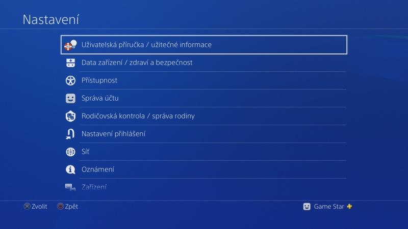 Uživatelská příručka PS4