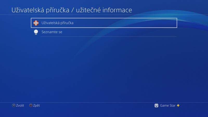 Uživatelská příručka PS4 - 2