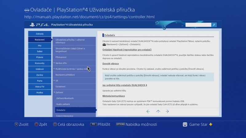 Uživatelská příručka PS4 - 5