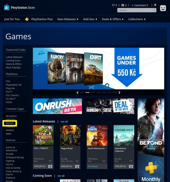 Jak stahovat hry z PS Store na PC