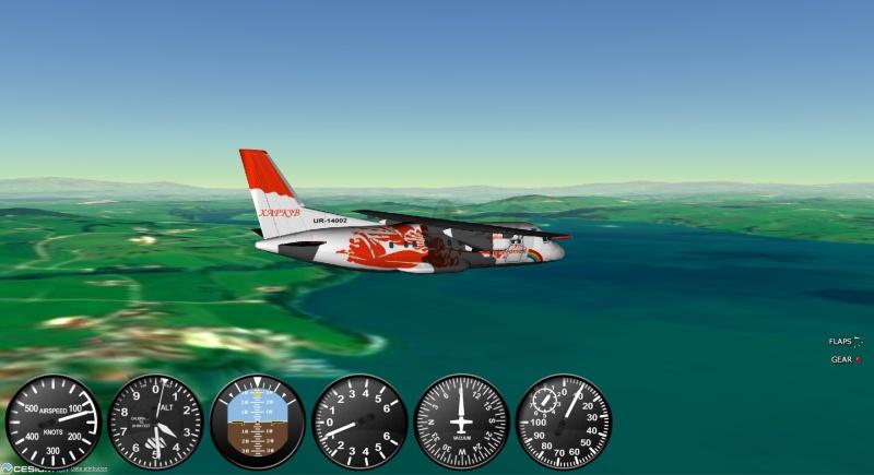 antonov an-140 - gefs letecký simulátor