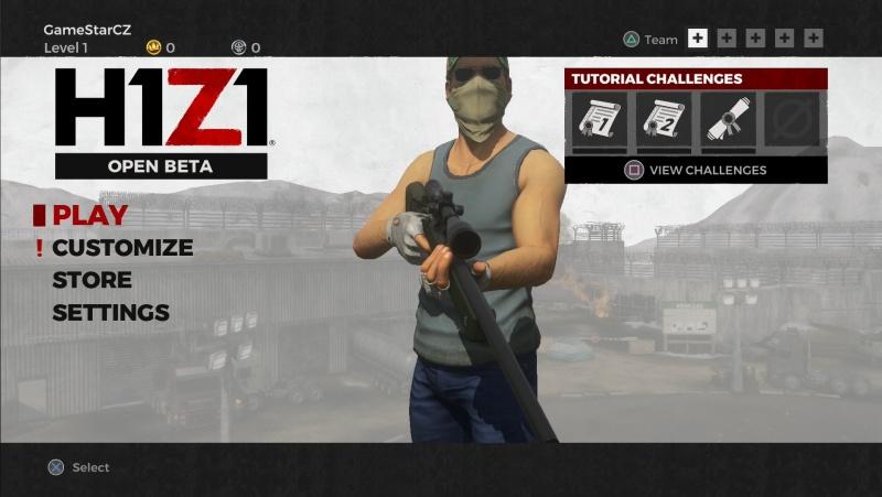 H1Z1 Battle Royale PS4 Open Beta